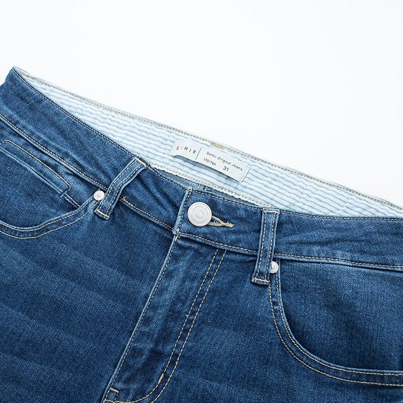 Semir Denim trousers men new slim feet trousers men cotton Korean letter embroidery pants students man pants tide