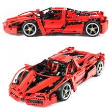 SHIP FROM SPAIN 1359pcs Racers Enzo Super Car 1:10 Scale Sports Car Enzo set Technic Racer Building Blocks Bricks Kids Toys gift