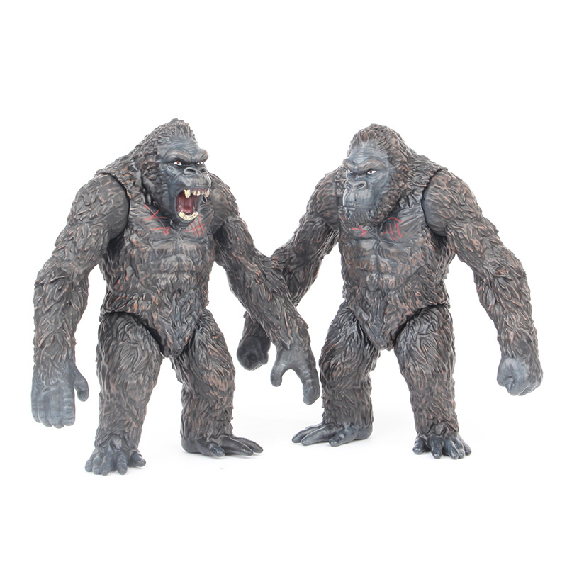 18cm Movie King Kong Skull Lsland Gorilla Monkey Figure Model Toys