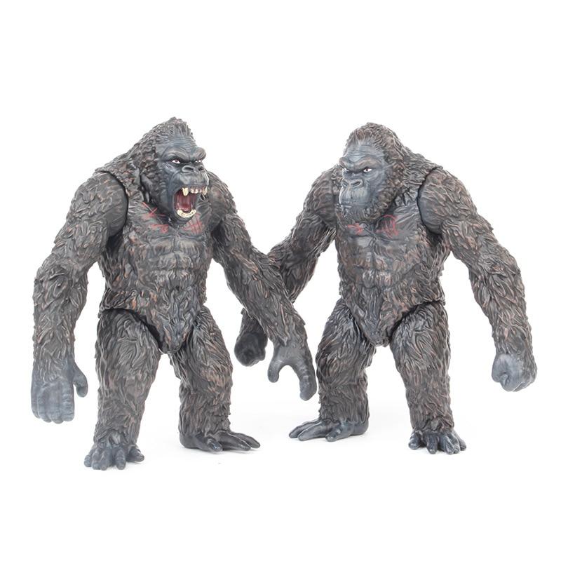 18cm Movie King Kong Skull Lsland Gorilla Monkey Figure Model Toys