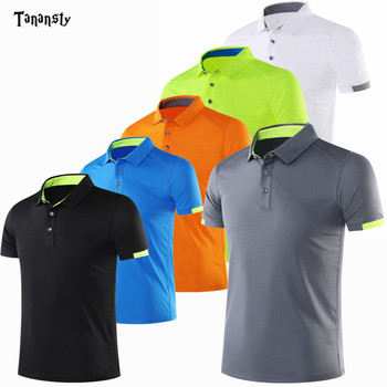 Męska koszulka golfowa tenis bieganie Badminton koszulki mężczyźni odzież sportowa bieganie koszulki piłkarskie dopasowane t-shirty ubrania sportowe Fitness Gym tanie i dobre opinie TANANSTY Wykładany kołnierzyk krótkie CN (pochodzenie) oddychająca COTTON Pasuje na mniejsze stopy niezwykle Proszę sprawdzić informacje o rozmiarach ze sklepu