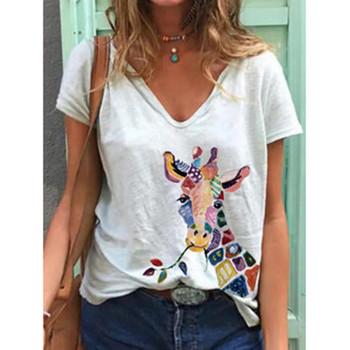 Damska bluzka nadruk z krową Plus rozmiar kobiet z krótkim rękawem 3D drukowane topy z okrągłym dekoltem bluzka damska wygodna bluzka top ete femme tanie i dobre opinie feitong Poliester CN (pochodzenie) Lato REGULAR O-neck NONE Na co dzień Suknem Cartoon Blouse Shirt off shoulder top Women s Clothing