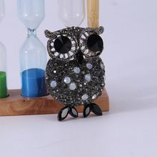 Beadsland Alloy Inlaid Rhinestone Brooch Owl Modeling Fashionable High-end Clothing Accessories Pin Woman Gift MM-908
