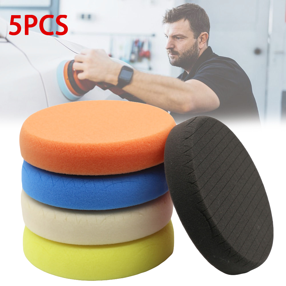 5Pcs/Set <font><b>Car</b></font> Polishing Pad Kits 6 Inch Auto Polishing Sponge <font><b>Wheel</b></font> Waxing Pad Polishing grid <font><b>wheel</b></font> mirror restoration <font><b>disk</b></font> image
