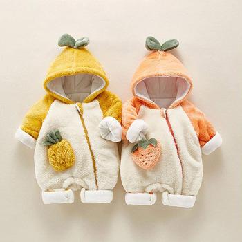 2020 jesień kombinezon zimowy dla niemowlaka dziewczynek bawełniane kombinezony z kapturem dla chłopców pajacyki kombinezon dla niemowląt dzieci noworodka ubrania dla dzieci tanie i dobre opinie Panda Leader COTTON Poliester CN (pochodzenie) Unisex W wieku 0-6m 7-12m 13-24m Patchwork zipper Pełna 524P Pasuje prawda na wymiar weź swój normalny rozmiar