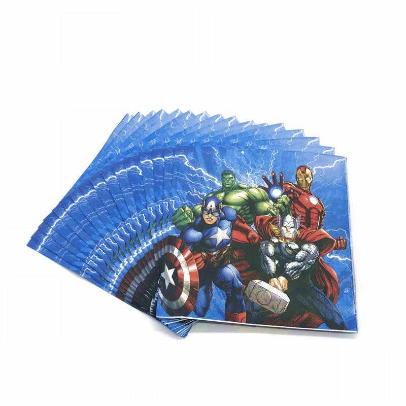 Avengers Sắt Anh Hùng Thor Kid Bé Trai Lợi Cho Sinh Nhật Gói Sự Kiện Đảng Hulk Cốc Tấm Mặt Nạ Tắm Cho Bé Dùng Một Lần Bộ Đồ Ăn bộ