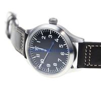 Sapphire Glass German Style Fieger Type A Automatic Pilot Watch NH35 Enamel Dial B UHR Heated BGW9 Luminous