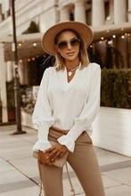 Новинка 2020 Женская Осенняя Простая рубашка с манжетами сексуальные