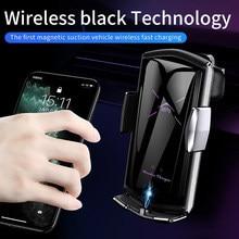 Soporte de teléfono para coche, cargador inalámbrico para iPhone X, 8, 7, 6, Samsung S9, soporte para teléfono inteligente