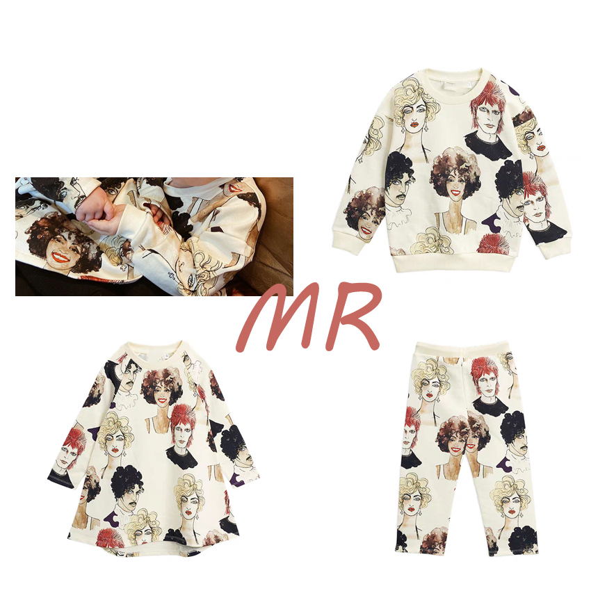 IN STOCK BoBomoon-MR Spring Summer Cotton Mp Series Thanksgiving Girls Soft Knitted Sweater Suit Toddler Girls Clothing Set