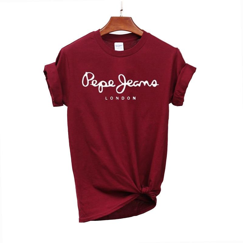 2019 T Mulheres Camiseta Carta de Impressão T-shirt Casual Branco Preto Rosa de Algodão de Manga Curta Encabeça 2019 Primavera Verão Luxo marca