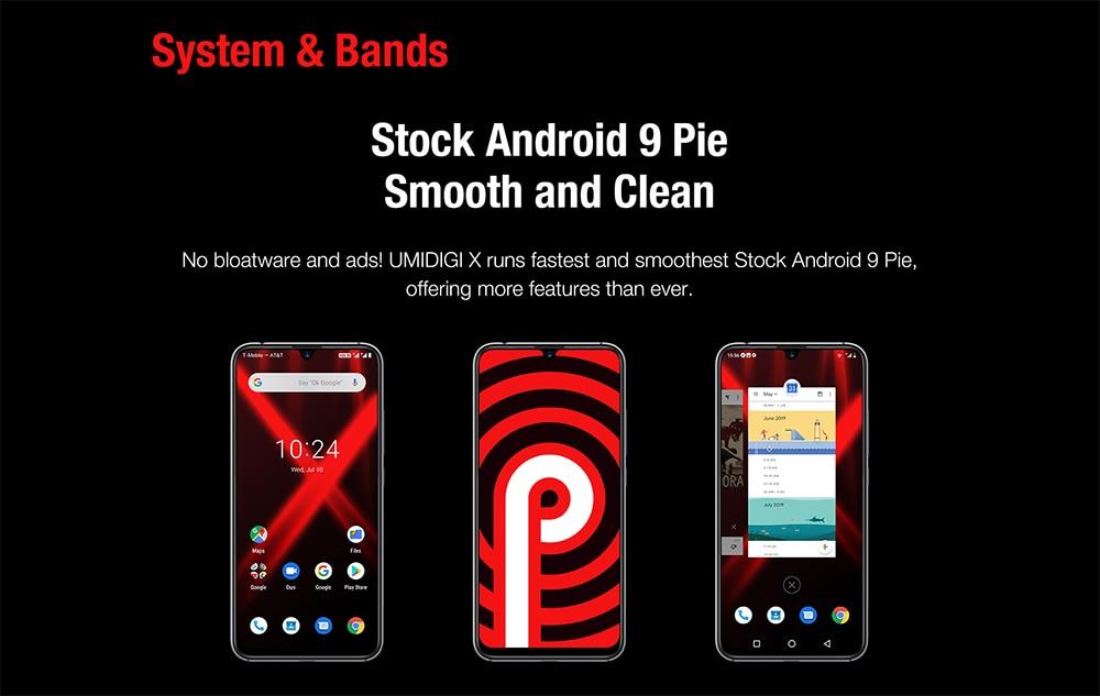 "H540138b7cf53497a82cb243fee16237fV Global Version UMIDIGI X In-screen Fingerprint 6.35"" AMOLED 48MP Triple Rear Camera 128GB NFC Helio P60 4150mAh Cellphone"