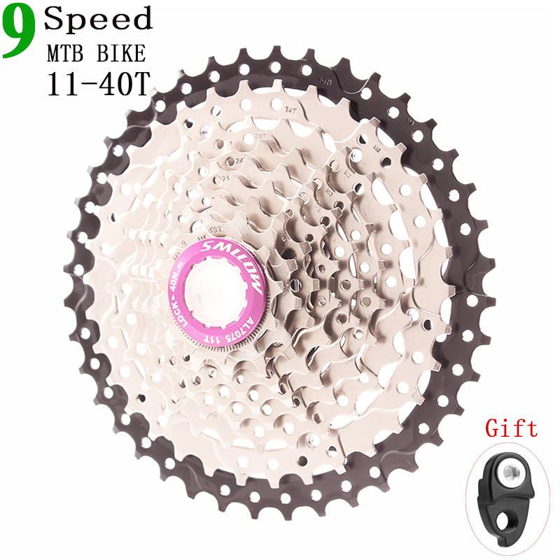 SMLLOW 9Speed Cassette 11-40 T Wide Ratio Freewheel Mountain Bike MTB Bicycle Cassette Flywheel Sprocket Compatible with Sunrace image