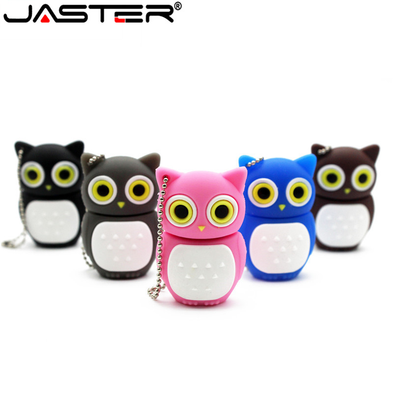 JASTER Cartoon 64GB Cute Owl USB Flash Drive 4GB 8GB 16GB 32GB Pendrive USB 2.0 Usb Stick