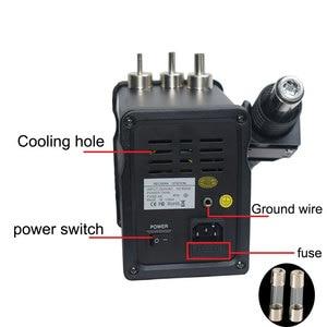 Image 2 - 2 ב 1 Eruntop 8586 + תצוגה דיגיטלית חשמלי הלחמה איירונס + אוויר חם אקדח טוב יותר SMD עיבוד חוזר תחנת משודרג 8586 מתכת Stand