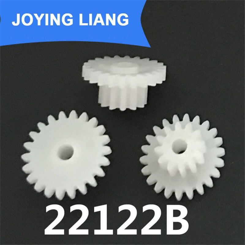 22122B 0.5M Gears 12mm Diameter 22 Teeth + 12 Teeth POM Plastic Gear Machine Motor Parts