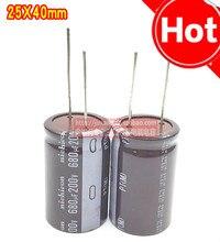 10 adet NICHICON PT 200V680UF 25X40MM elektrolitik kondansatör 680uF/200V yüksek frekans uzun ömürlü 680UF 200V