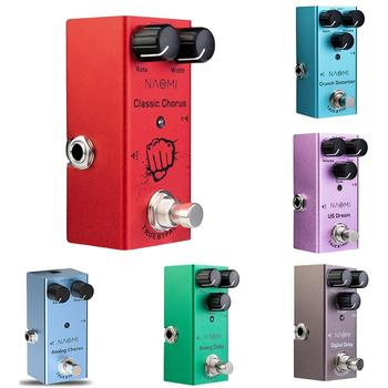 NAOMI Series Guitar Effect Pedal Distortion/ Delay/ Chorus Effects Guitar Pedal True Bypass DC 9V 1A Adapter 3 Way Cable