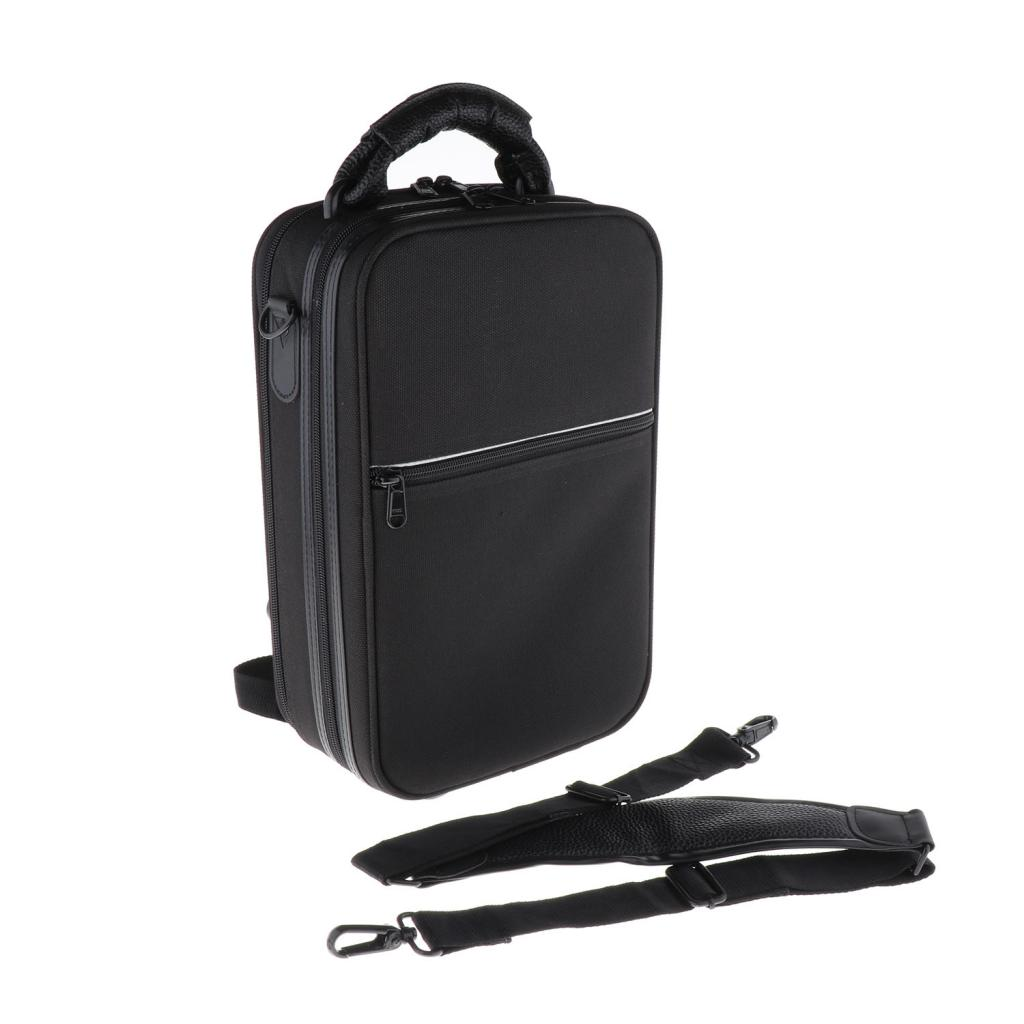 Black Clarinet Artificial Leather Carrying Case Gig Bag Handbag Backpack