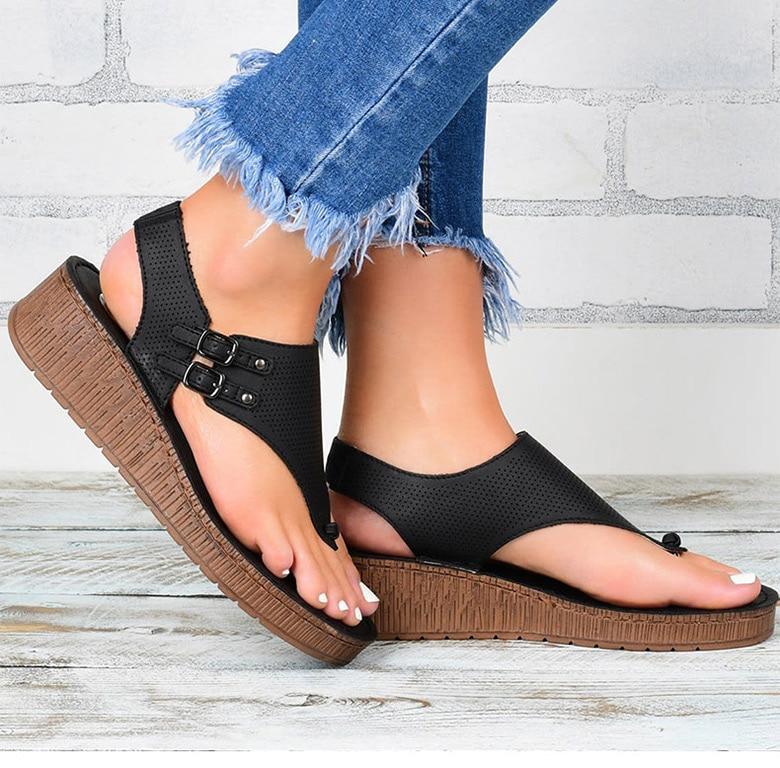 plataforma cunhas sapatos para mulher verão sandalias