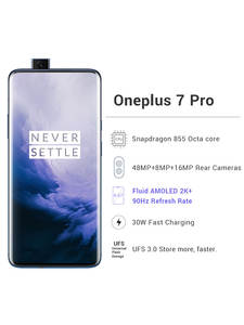 Oneplus Snapdragon 855 7-Pro Mobile-Phone 256GB 8gb LTE/GSM/WCDMA NFC Dash Charge Octa Core