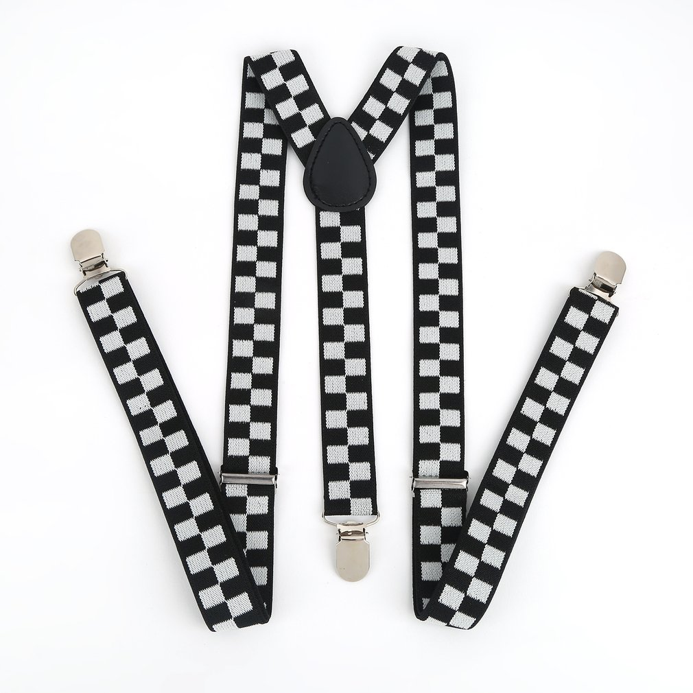 Y Shape Elastic Clip-on Suspenders 3 Clip Pants Braces Adjustable Elasticated Adult Suspender Straps Unisex Women Men 2019
