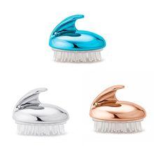 Portable Silicone Shampoo Scalp Shower Body Washing Hair Massage Massager Brush Comb