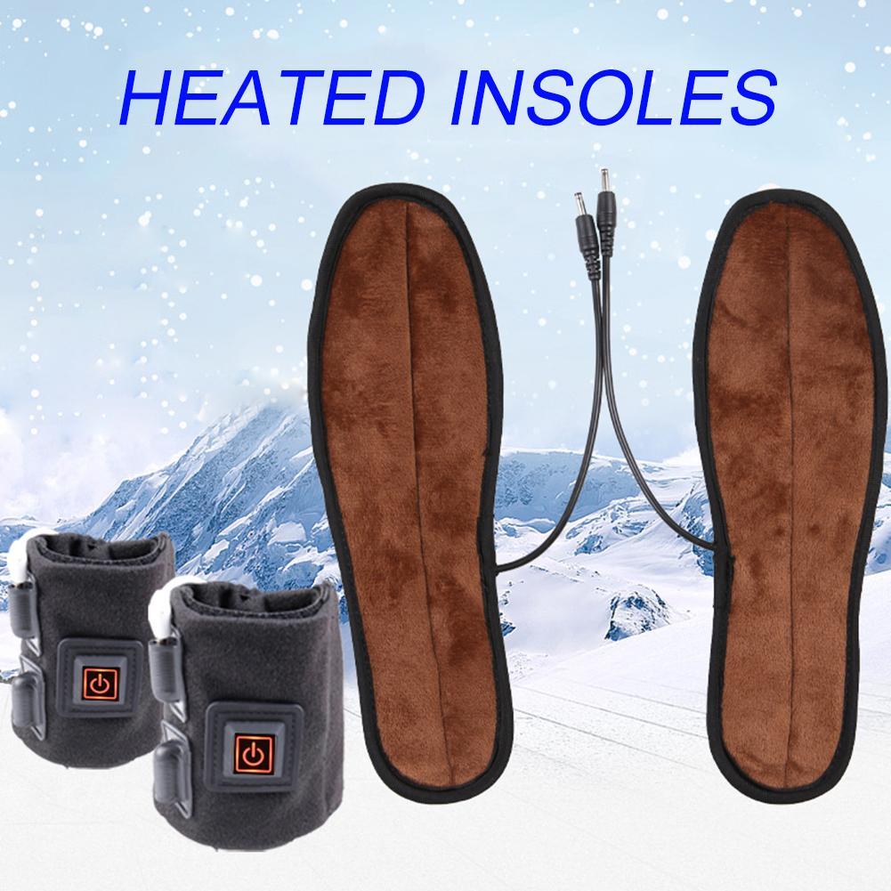 Palmilhas de Sapato Esportes ao ar Palmilhas de Aquecimento Elétrico Aquecido Sapato Confortável Macio Fiapos Inverno Livre Pés 37-44 1 Par
