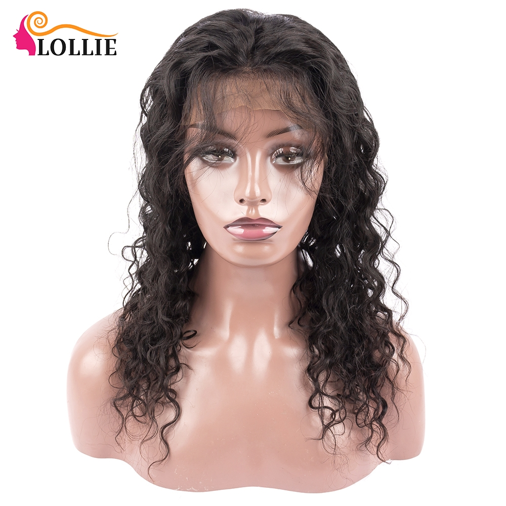 Lollie Water Wave Lace Front Wig Human Hair Natural Hair Line 13x4 Lace Front Human Hair Wigs Pre Plucked 150% Water Wave Wig