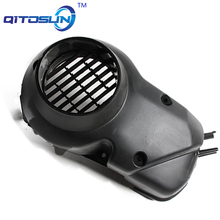 MOTORCYCLE SCOOTER FAN COVER ENGINE FAN COOLING COVER FOR DIO ZX50 AF27/28  FAN COVER chrome RAINBOW COLOR