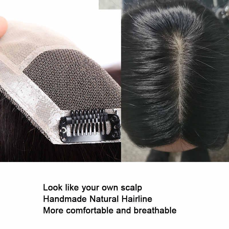 SEGO 15x16cm 10-22 cal prosto jedwabiu baza ludzkich włosów Topper treski dla kobiet 100% naturalne maszyna wykonana Remy peruka peruka włosów