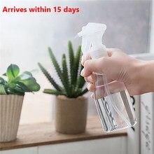200 mL taşınabilir plastik sprey şişesi şeffaf makyaj nem Atomizer Pot ince sis püskürtücü şişeleri saç kuaförlük araçları