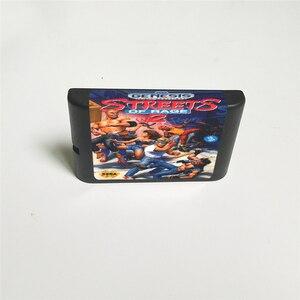 Image 2 - Streets of Rage 2   USA Della Copertura Con La Scatola Al Minuto 16 Bit MD Carta del Gioco per Sega Megadrive Genesis Video console di gioco