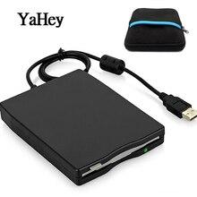 """YAHEY 3,"""" внешний дисковод для чтения/записи 1,44 Мб дискеты USB внешняя портативная дискета FDD для ноутбуков+ сумка для дисковода"""