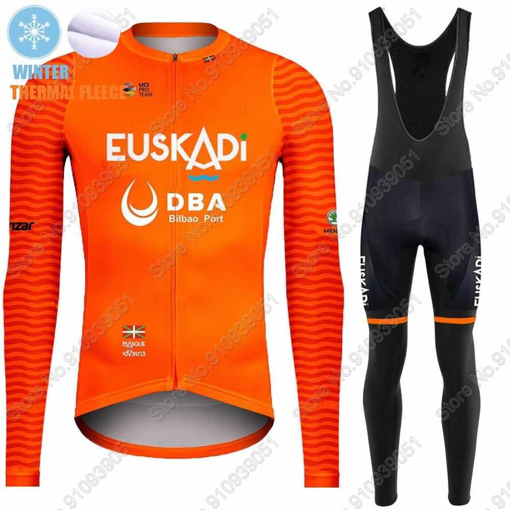 2020 Winter Cycling Fleece Jersey Thermal Men Bike Racing Bib Pants Kits Set Pad