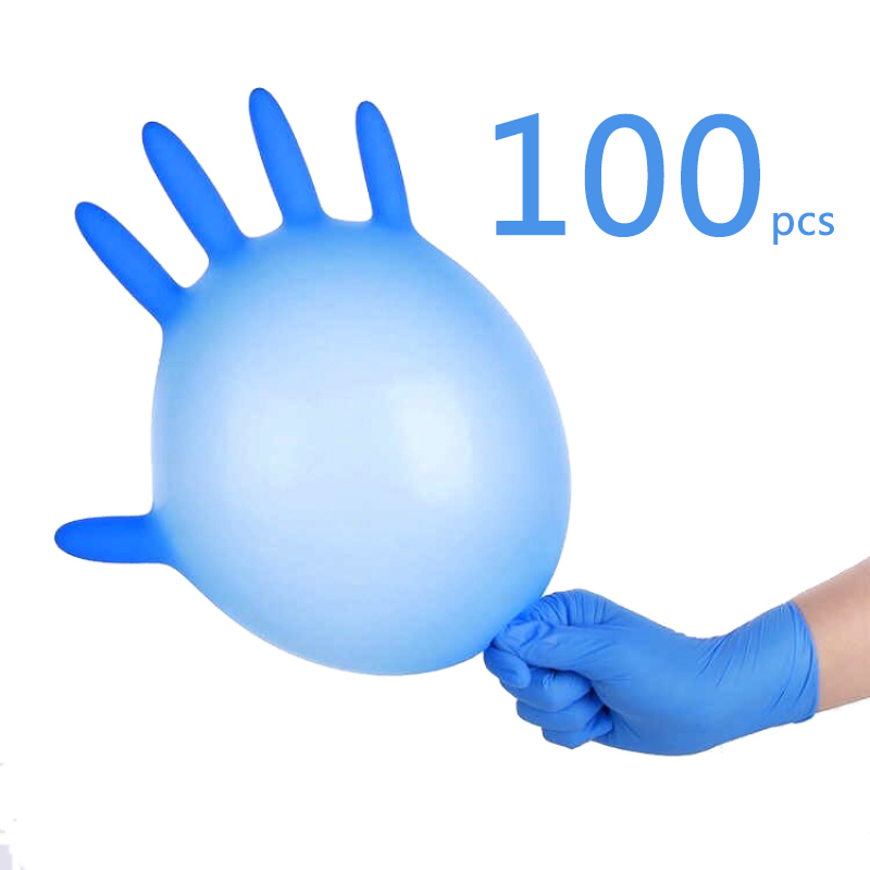 20/100 Pieces Cleaning Nitrile Gloves Waterproof Corrosion Resistant Gloves Disposable Durable Safety Gloves Universal