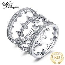 JPalace свадебные кольца ювелирные стерлингового серебра 925 для женщин-летию вечность Штабелируемый кольцо комплект ювелирных изделий