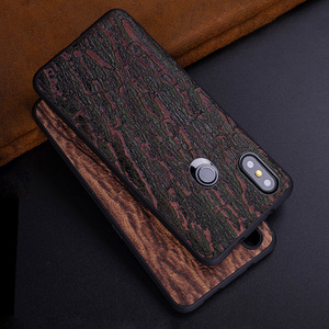 Image 3 - Cowhide Phone Case For Xiaomi Redmi Note 5 6 6a 7 7a 8 Pro For Mi 8 9 se 9T A1 A2 A3 lite Y3 Poco F1 Mix 2s 3 Bark texture Cover