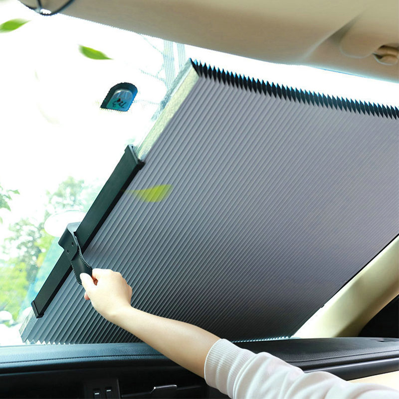 Car Windshield Sun Shade Automatic Foldable Extension Car Window Sunshade Visor Protector UV Protector Accessories