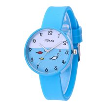 2019New Silicone Jelly Candy Color Watch Student Watch Boys Girls Fashion Children's Kids Watches Cartoon Wrist Quartz Watch