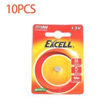10PCS/lot EXCELL 1.5V LR66/177/377/AG4 Button Coin Cells Battery Button Batteries Long Shelf Life for Watch Electronic Toys(China)