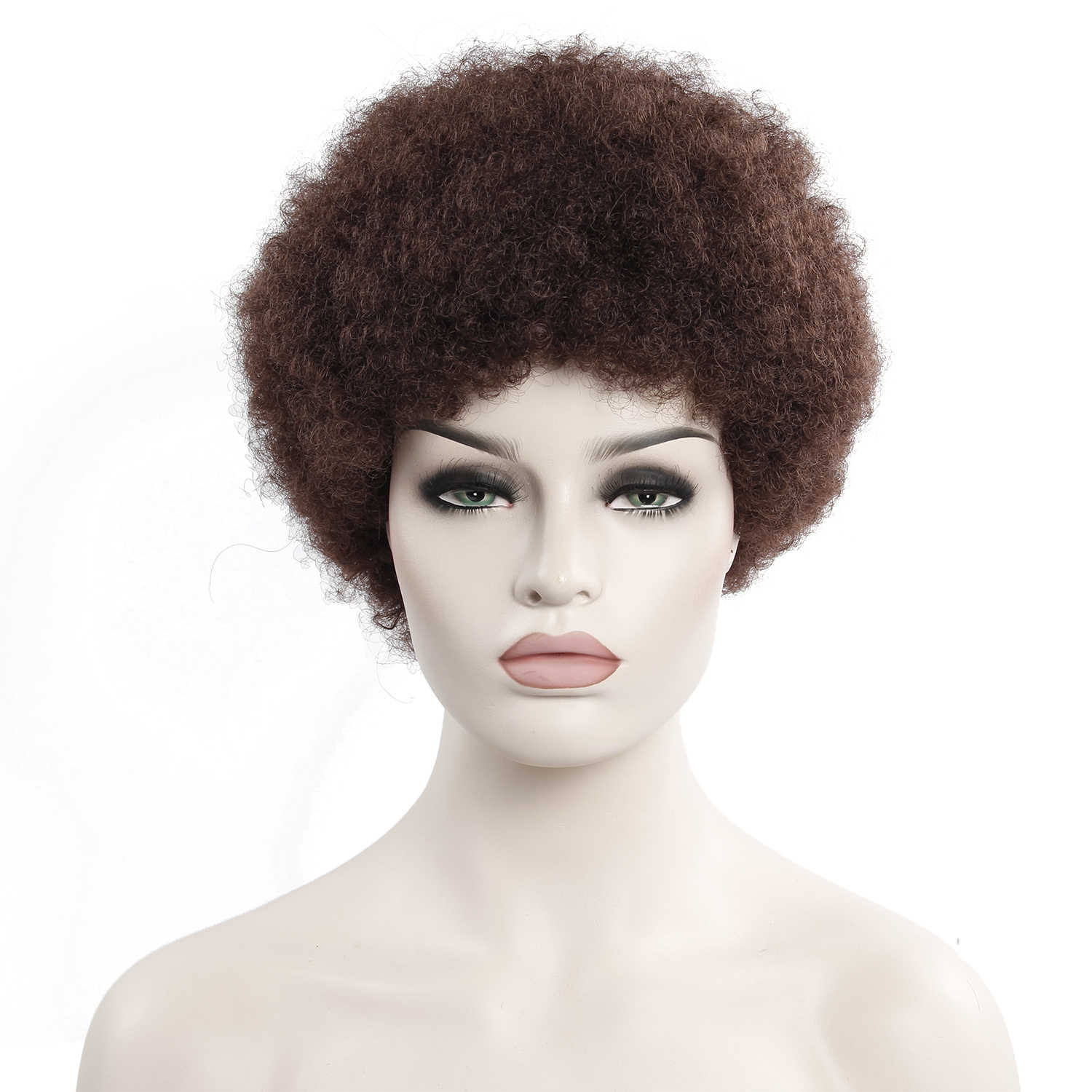Afro Wig Mens Curly Hair Brown Synthetic Retro Cosplay Wigs For Women Fluffy Wigs For Women Black Hair