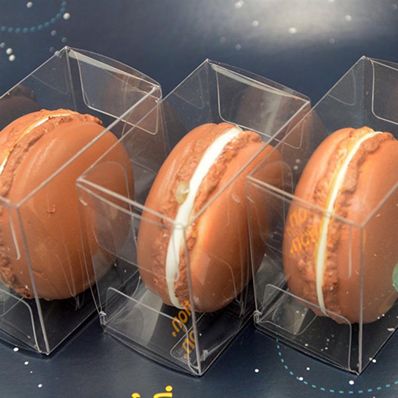 10 pièces transparentes simples Macarons boîtes de rangement en plastique bonbons boîte demballage fournitures de fête pour bonbons chocolat biscuits beignet