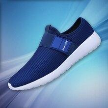 2020 dos homens sapatos casuais malha leve respirável esportes tênis de corrida moda confortável sapatos homem apartamentos