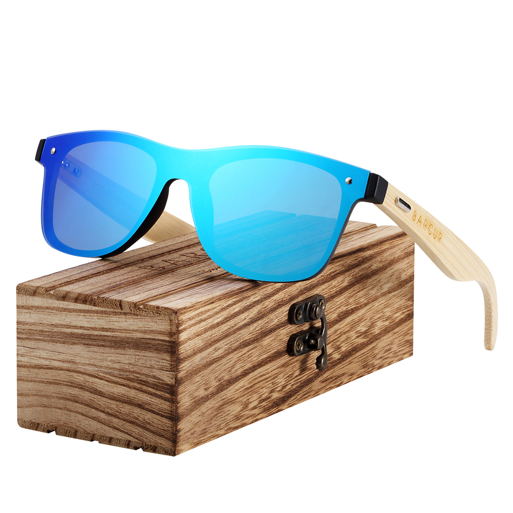 BARCUR Wood Glasses Bamboo Sunglasses Eyewear Accessories Female/Male Sunglasses Rimless for Men glasses