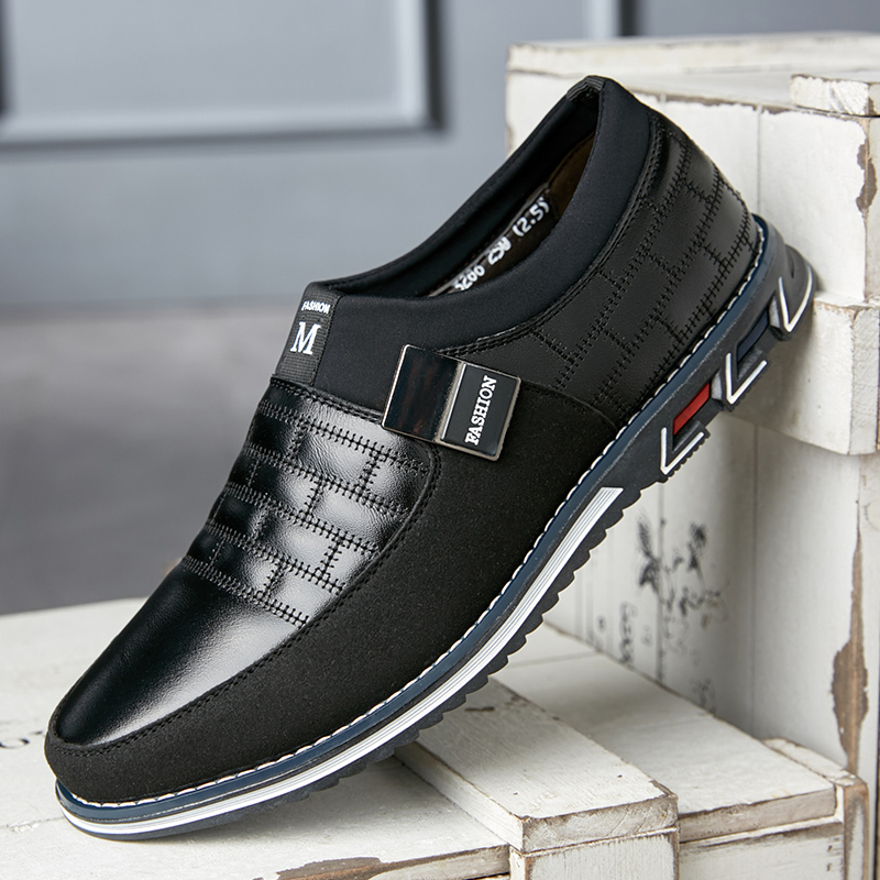 Leather Men Casual Shoes 2020 Brand Mens Loafers Moccasins Breathable Slip On Black Driving Shoes Big Size