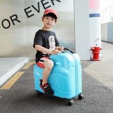 Детский чемодан на колесиках 20 дюймов, чемодан, детская тележка, Студенческая дорожная сумка, милая детская сумка для переноски в багажнике