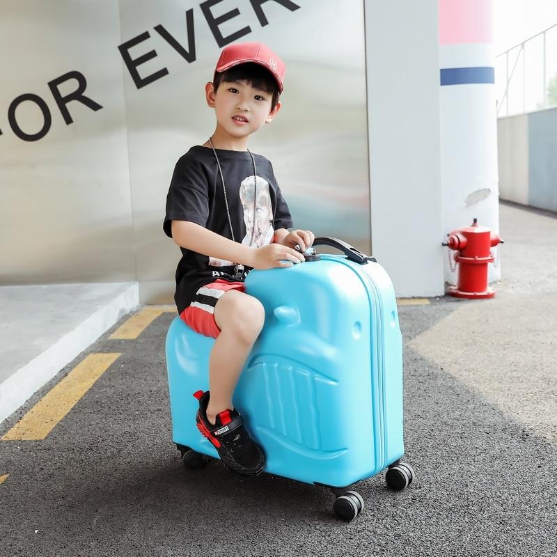 Nouveaux enfants roulant bagages Spinner 20 pouces valise à roulettes enfants cabine Trolley étudiant voyage sac mignon bébé porter sur le coffre