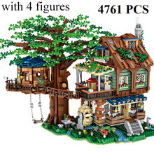 Micro Bricks MOC Tree House The Time Room Building Blocks Bricks Creative Cities Street View Toys for Kids Christmas Gifts