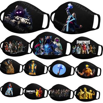 Fortnites Kids maska dla dorosłych rozdział 2 czwarty sezon Nexus War Fortnites figurki drukuj maski przeciwkurzowe zmywalna maska wielokrotnego użytku tanie i dobre opinie CN (pochodzenie) COTTON